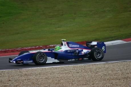 Een mooie foto van de GP2 Series