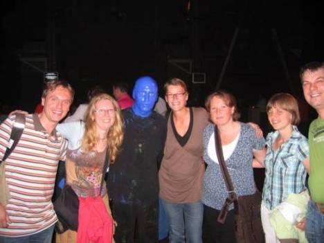Wij met een Blue Man